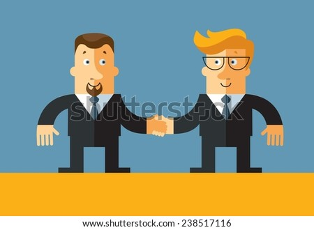 businessmen shaking hands. agreement. - stock vector