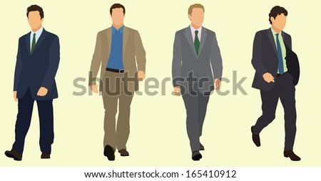 Businessmen Walking - stock vector