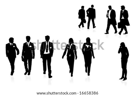businesspeople - stock vector