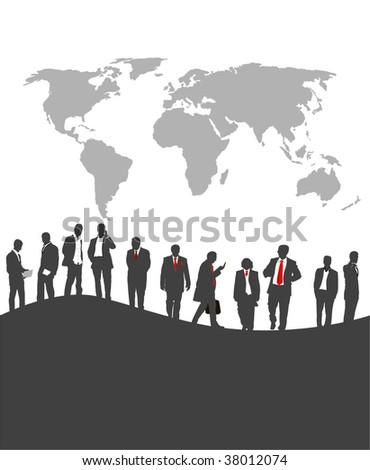 Businesspeople - vector - stock vector