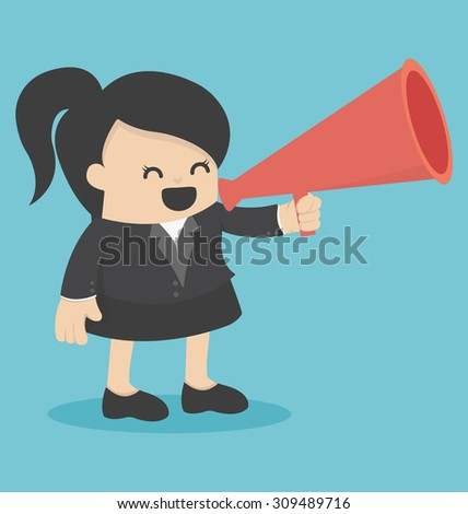 Businesswoman announced - stock vector