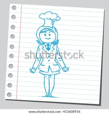 Businesswoman chef - stock vector