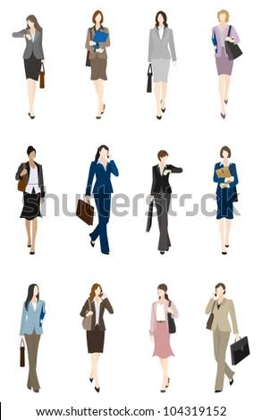 BusinessWoman / Front - stock vector