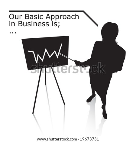 Businesswoman. Vector. - stock vector