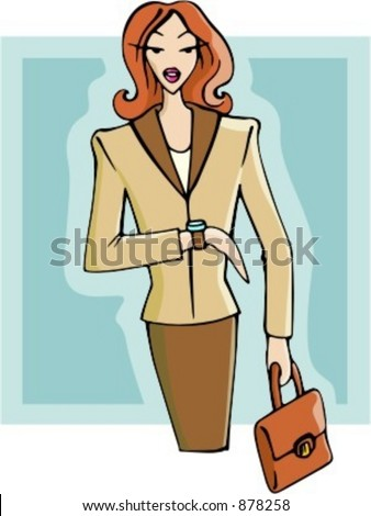 Businesswoman waiting for an appointment. Check my portfolio for many more images of this series. - stock vector