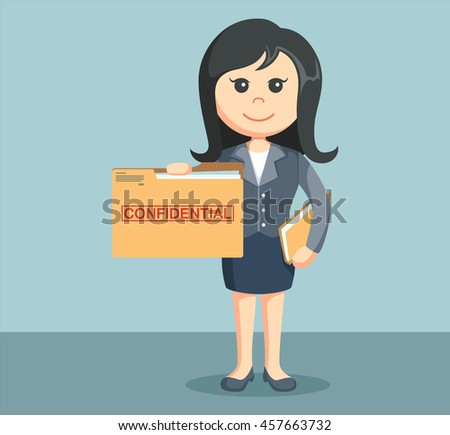 businesswoman with confidential file folder