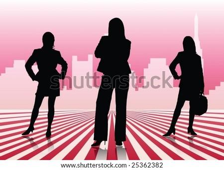 Businesswomen - stock vector