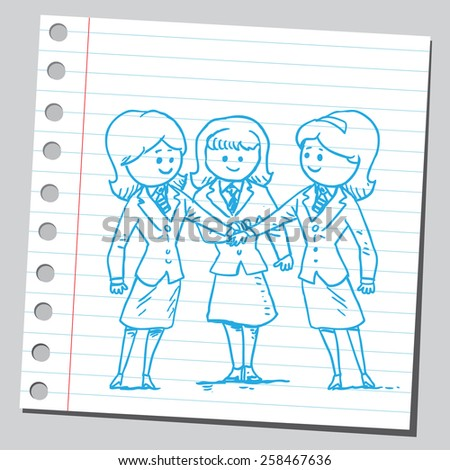 Businesswomen teamwork - stock vector