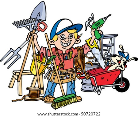Busy Builder - stock vector