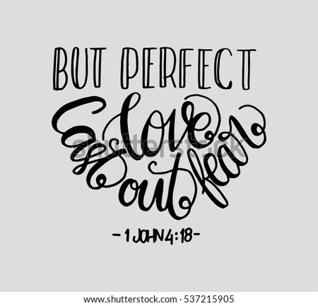 Perfect Love Cast Out Fear Bible Stock Vector   Shutterstock