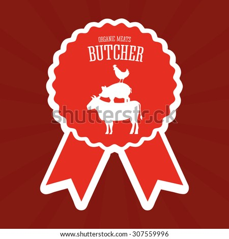butcher menu design, vector illustration eps10 graphic