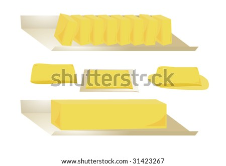 Butter isolated - vector