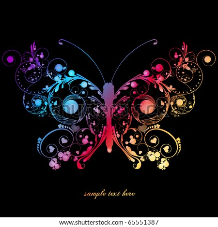 butterfly - stock vector