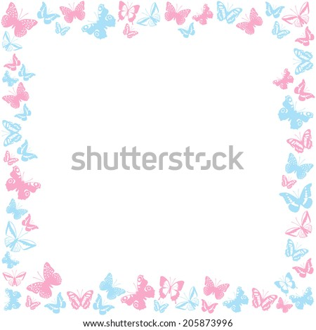 Pink butterfly borders - photo#28