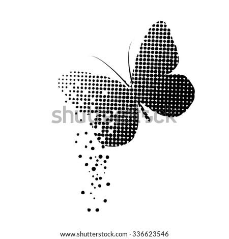 Butterfly Circles. Vector - stock vector