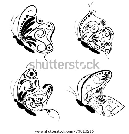 Butterfly. Collage. - stock vector