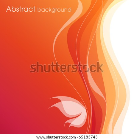 Butterfly. Colorful vector background. - stock vector