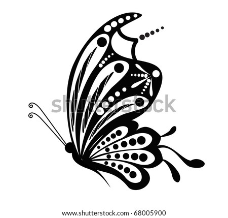 butterfly decorative abstraction - stock vector