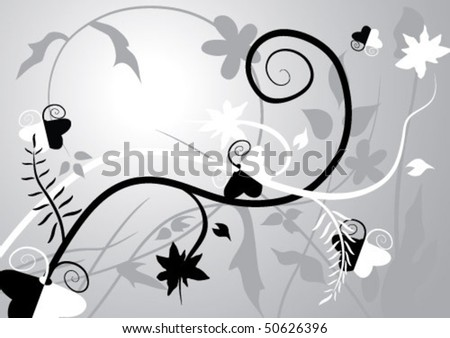 butterfly grayscale sample background - stock vector