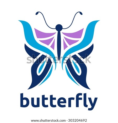 Butterfly Logo Template - stock vector