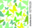 Butterfly seamless pattern. - stock vector