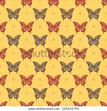 Butterfly - seamless pattern