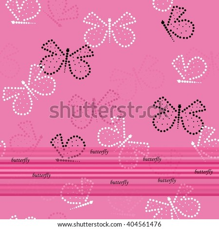 Butterfly seamless pattern - stock vector