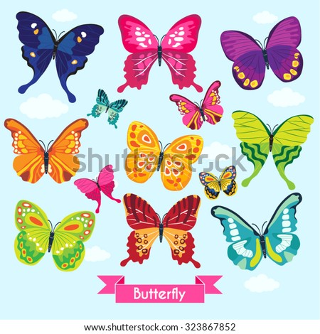 Butterfly Vector Design Illustration - stock vector
