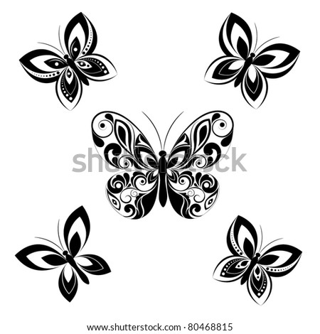 Butterfly. Vector set. - stock vector