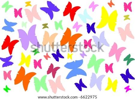 Butterfly vector texture - stock vector