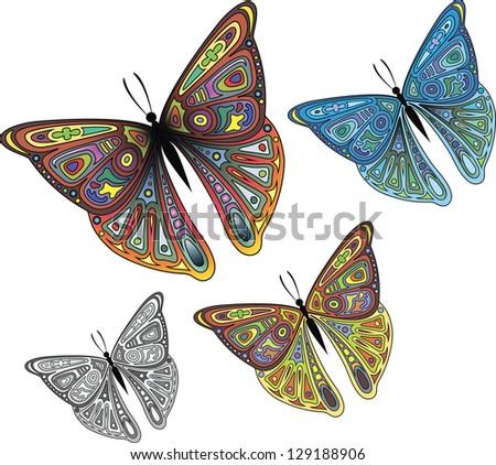 Butterflys I - stock vector