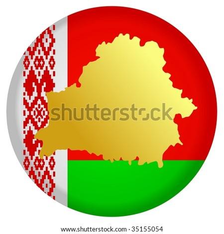 button Belarus - stock vector