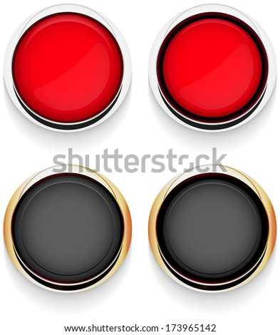 button chrome abstract vector illustration eps 10 / button chrome