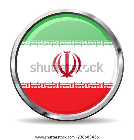 button Flag of Iran