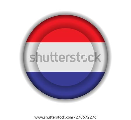 button flags netherlands - stock vector