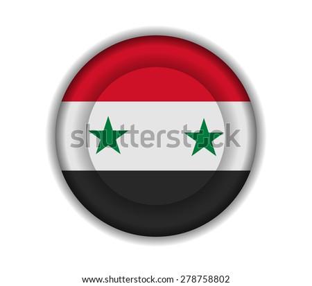 button flags syria - stock vector