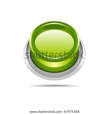 Button green vector - stock vector