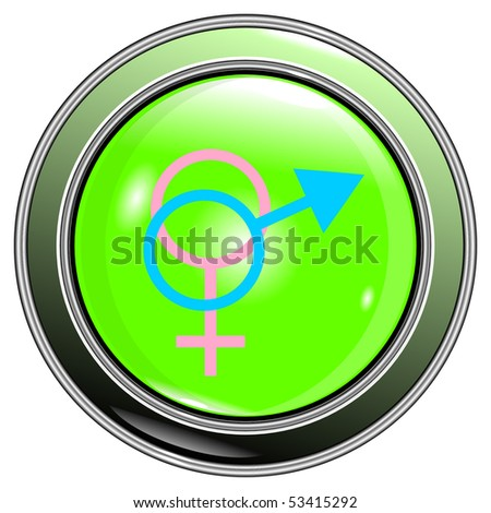 Button male and female sign isolated on the white background vector eps10 - stock vector
