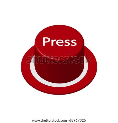 Button - Press - stock vector