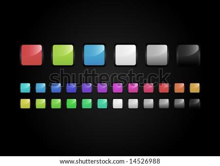 Button Set - stock vector
