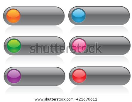 Button set on white background. Vector art. - stock vector