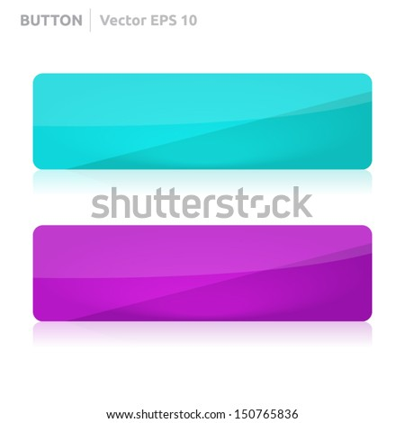 Button template | vector design eps | business banner with symbol icon | website element | web - stock vector