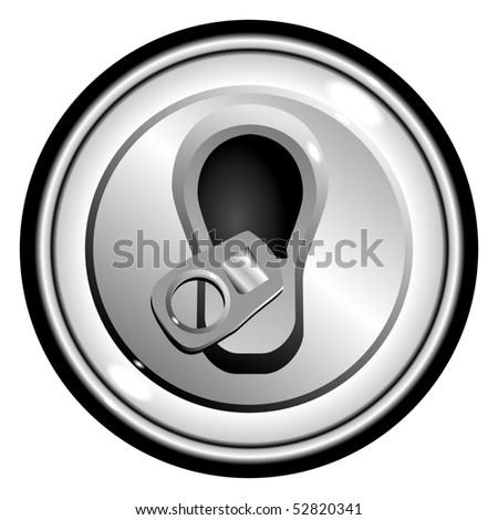 button top opened can of beer, on the white background isolated vector eps10 - stock vector