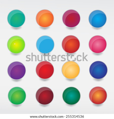Button web colorful. - stock vector