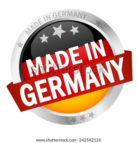 Button with Banner MADE IN GERMANY - stock vector