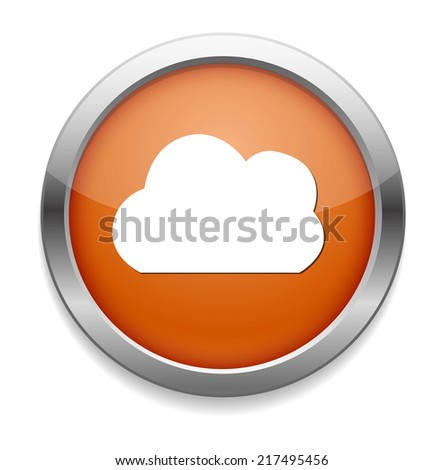 button with cloud icon - stock vector