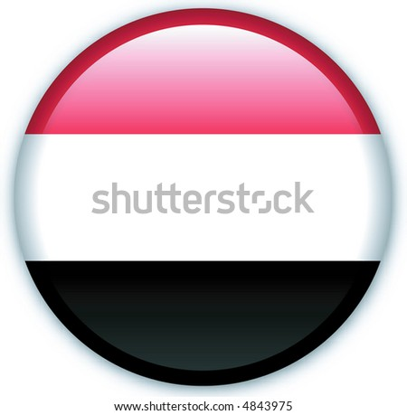 Button with map from Yemen - stock vector