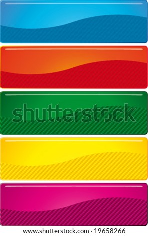 Buttons. Bright elements to your design. Blue, red, green, yellow, purple on a white background