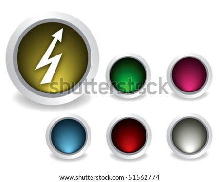 buttons electric, empty button included - stock vector