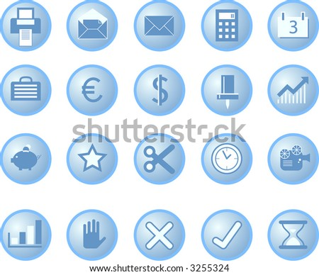 buttons for user interface and internet
